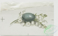 prang_cards_holidays-00082 - 0227-Easter cards depicting girls, eggs, flowers, and butterflies 104169