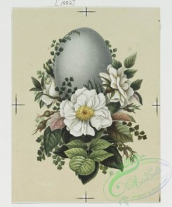 prang_cards_holidays-00091 - 0268-Birthday and Easter cards depicting flowers, eggs, decorative designs, and a vase 104460