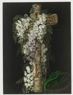 prang_cards_holidays-00104 - 0426-Easter cards depicting bird in flight, wooden cross decorated with flowers 105731