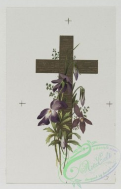 prang_cards_holidays-00117 - 0503-Easter cards depicting crosses and flowers, stars with nautical scenes 106309