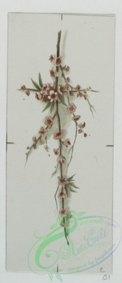 prang_cards_holidays-00128 - 0587-Christmas and Easter cards depicting flowers, foliage, decorative ornamentation, stars and crosses 106812