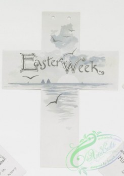 prang_cards_holidays-00137 - 0782-Calendar for Easter Week, in the shape of a cross, with biblical excerpts and depictions of rural and aquatic landscapes 107681