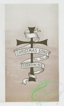 prang_cards_holidays-00151 - 1003-Christmas songs for the sorrowing-cards depicting the cross and a banner for text 100006