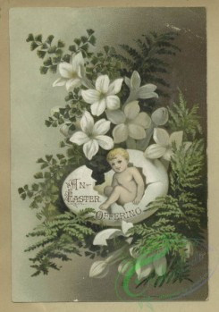 prang_cards_holidays-00187 - 1682-Trade and Easter cards depicting flowers, leaves and babies hatching from eggs 103042