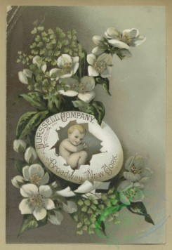 prang_cards_holidays-00188 - 1682-Trade and Easter cards depicting flowers, leaves and babies hatching from eggs 103043
