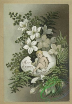 prang_cards_holidays-00189 - 1682-Trade and Easter cards depicting flowers, leaves and babies hatching from eggs 103044