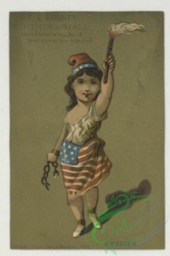 prang_cards_holidays-00191 - 1760-Trade cards depicting women wearing flag skirts from various countries - Russia, America, Turkey, Italy, Japan and Peru 103530