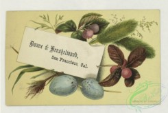 prang_cards_holidays-00193 - 1780-Calendars and trade cards depicting a horseshoe, boats, flowers, eggs, pussy willow, a ladybug and pyramids 103650