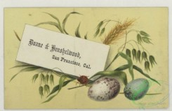 prang_cards_holidays-00194 - 1780-Calendars and trade cards depicting a horseshoe, boats, flowers, eggs, pussy willow, a ladybug and pyramids 103651