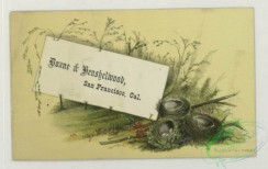 prang_cards_holidays-00196 - 1787-Trade cards depicting a bird, eggs, nests, insects, flowers, frogs, the moon and a scenic view 103681