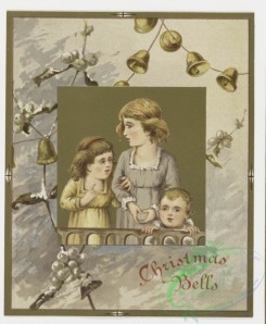 prang_cards_kids-00012 - 0172-Christmas and Easter cards depicting nests, plants, bells, children, carollers and holly 103358