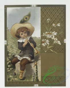 prang_cards_kids-00014 - 0190-Birthday cards depicting young girls with lamb, flowers, playing music, landscapes 103901