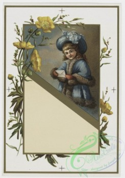 prang_cards_kids-00016 - 0198-Valentines and Easter cards depicting young girls, child painting, butterflies, and botanical ornamentation 103966
