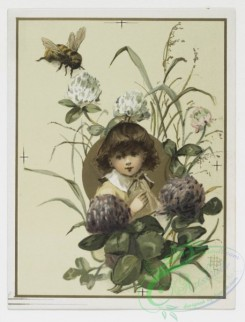 prang_cards_kids-00019 - 0200-Valentines, Christmas and Easter cards depicting children, bees, butterflies, and botanical ornamentation 103987