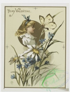 prang_cards_kids-00021 - 0200-Valentines, Christmas and Easter cards depicting children, bees, butterflies, and botanical ornamentation 103989