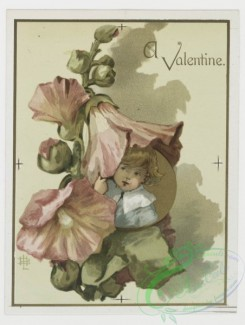 prang_cards_kids-00022 - 0200-Valentines, Christmas and Easter cards depicting children, bees, butterflies, and botanical ornamentation 103990