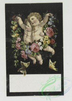 prang_cards_kids-00029 - 0264-Valentines depicting Cupid with his arrows, angels, leaves, and flowers 104417