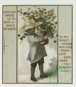 prang_cards_kids-00030 - 0265-Birthday and Valentine cards with text, depicting children, flowers, dew drops, tears, an umbrella, a trellis, a basket and a decorative design 104430