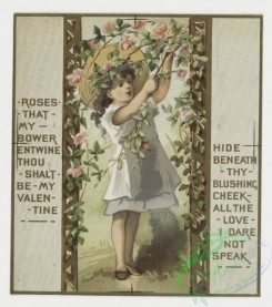 prang_cards_kids-00032 - 0265-Birthday and Valentine cards with text, depicting children, flowers, dew drops, tears, an umbrella, a trellis, a basket and a decorative design 104432