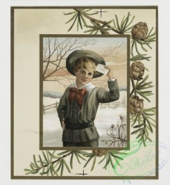 prang_cards_kids-00052 - 0352-Christmas cards depicting children, toys, snow-covered landscapes 105223