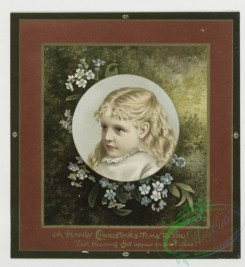 prang_cards_kids-00055 - 0362-Christmas and New Year cards depicting girls, stars, and flowers 105290
