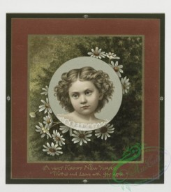 prang_cards_kids-00056 - 0362-Christmas and New Year cards depicting girls, stars, and flowers 105291