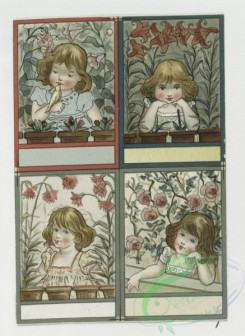 prang_cards_kids-00057 - 0363-Easter and text cards depicting girls, nests, birds, stars and flowers 105293