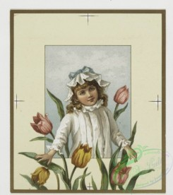 prang_cards_kids-00059 - 0409-Birthday cards and Valentines depicting young girl and flowers 105603