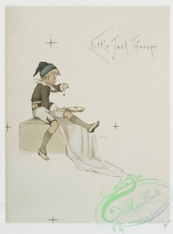 prang_cards_kids-00091 - 0649-Old Stories in New Attire-Little Boy Blue, Cinderella, Little Jack Horner, Little Bo Peep 107112