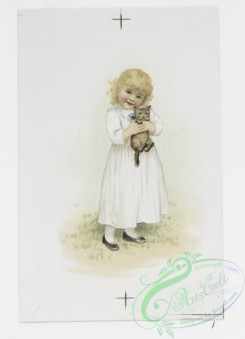 prang_cards_kids-00167 - 1082-Christmas cards depicting children holding a cat, Christmas stockings and a rooster toy 100318