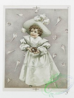 prang_cards_kids-00191 - 1204-Valentines and Easter cards depicting flowers, crosses, girls, baskets, hats and a bird's nest 100807