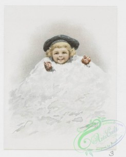prang_cards_kids-00197 - 1217-Calendar and Christmas cards depicting children, snowballs, snowman, winter, turkey, women, flowers, grapes and holly 100862