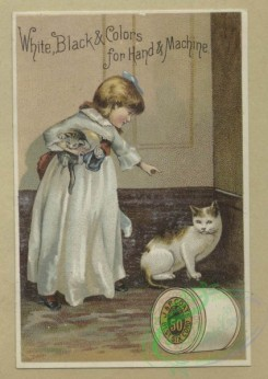 prang_cards_kids-00223 - 1635-Trade cards depicting flowers, children, calligraphy, cats, acorns, thread and autumn foliage 102742