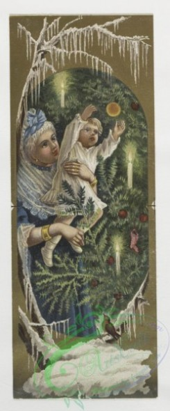 prang_cards_kids-00275 - 0054-Christmas, New Year, and birthday cards depicting families, Christmas trees, and plant life 106586