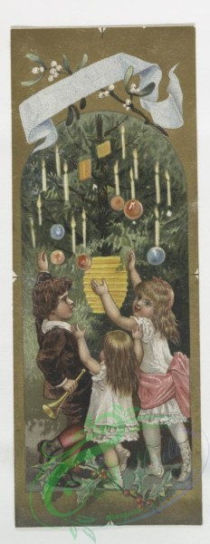 prang_cards_kids-00276 - 0054-Christmas, New Year, and birthday cards depicting families, Christmas trees, and plant life 106587