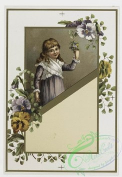 prang_cards_kids-00290 - 0198-Valentines and Easter cards depicting young girls, child painting, butterflies, and botanical ornamentation 103965