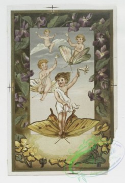prang_cards_kids-00295 - 0219-Easter cards depicting angels, young girls, butterflies, eggs, and flowers 104122