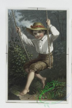 prang_cards_kids-00304 - 0263-Valentine cards depicting the outdoors, children, birds, mushrooms, a swing, a violin and decorative designs 104409