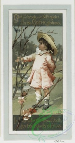 prang_cards_kids-00307 - 0276-Easter cards with text, depicting the outdoors, flowers, girls and decorative designs 104536