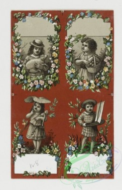 prang_cards_kids-00309 - 0310-Cards with depictions of children and decorative flowers 104887