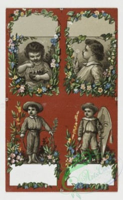 prang_cards_kids-00310 - 0310-Cards with depictions of children and decorative flowers 104888