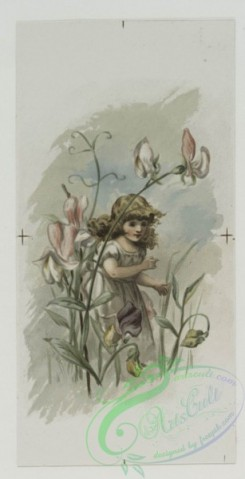 prang_cards_kids-00317 - 0513-Valentines and birthday cards depicting girls with flowers, and men and women with insect and angel wings 106359