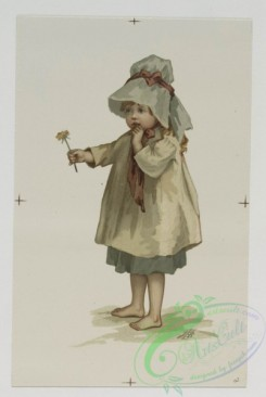prang_cards_kids-00329 - 0568-Christmas cards depicting young girl with flowers, Easter cards depicting flowers 106657