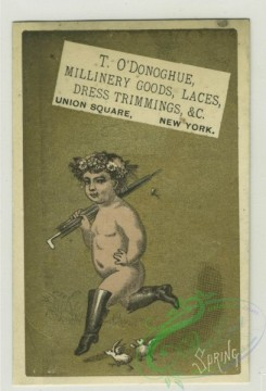 prang_cards_kids-00372 - 1387-Trade cards depicting nests, birds, Easter eggs, rabbits, fruit, flowers, hot buns, nude children running with-umbrellas, boots, chicks, turtle, r 101526