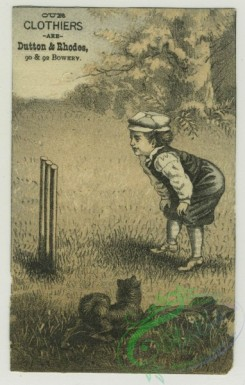 prang_cards_kids-00378 - 1402-Trade cards depicting men climbing a mountain, a boy playing cricket, ducks reclaiming eggs from a boy , Cards depicting Asians-acrobats, giving g 101640