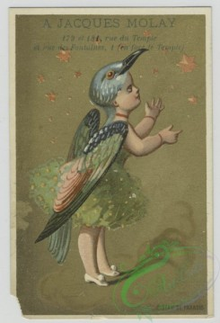 prang_cards_kids-00389 - 1455-Trade cards depicting men and women wearing bird costumes, butterflies, stars and flute playing 101908