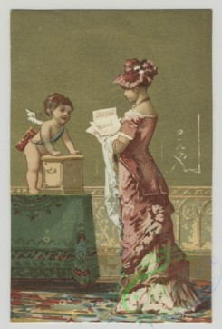 prang_cards_kids-00410 - 1498-Trade cards depicting a mother, children, angels and interior space 102092