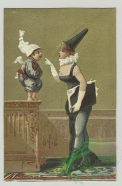 prang_cards_kids-00411 - 1498-Trade cards depicting a mother, children, angels and interior space 102093