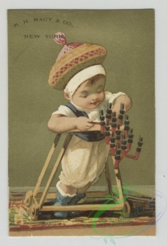 prang_cards_kids-00421 - 1516-Trade cards depicting children-eating, walking, skipping, playing with toys, carrying baskets and in cribs 102177