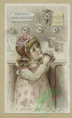 prang_cards_kids-00430 - 1617-Trade cards depicting children, ducklings, a baby, drinking and carrying a tray 102616